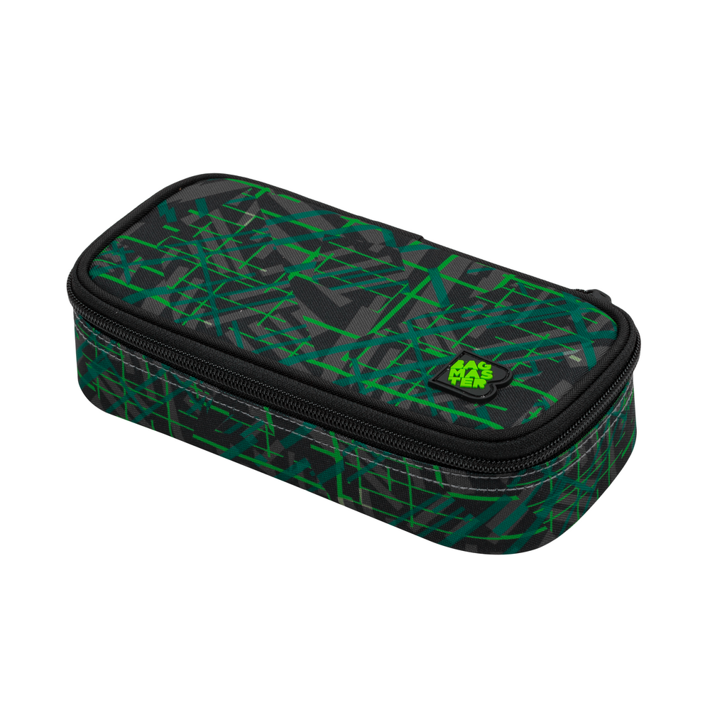 Studentský penál BAGMASTER CASE DIGITAL 20 D GREEN/BLACK/GRAY